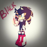 Black the hedgehog by Singhter-lips