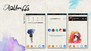 Aquarelle v1.0 - Go Launcher ex  theme by melhak