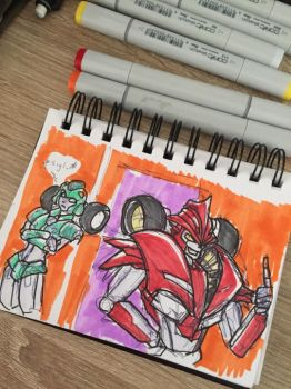 Moonracer and Knockout doodle by beamer