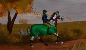 Autumn ride by WhingedDreamingRose