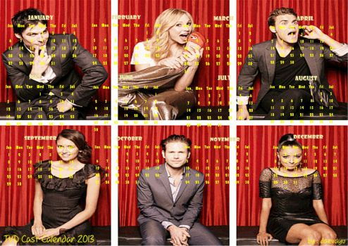 The Vampire Diaries Casts-Calendar 2013 by Daevayu