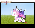 [CLOSED] pink butterfly Sloxou Auction by Miru-Studios