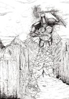 Fingolfin and Morgoth by Haldarn
