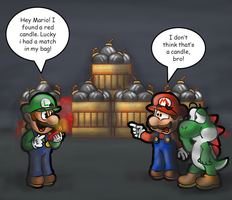 That is our Luigi by MushroomWorldDrawer