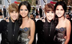Justin and Selena+PHOTOMONTAGE by nataschamyeditions