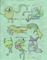 Animal Crackers Script Doodles by Mintychipy