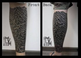Joy Division - album cover, leg tattoo by Electronic-Sin
