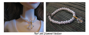 Diamond+Pearl Necklace for BJD by IshtarDelano