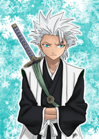 Toshiro, wallpaper part 1 by SilverDrawing88