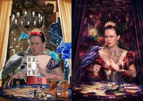 Madame Fortune before-after by mary-petroff