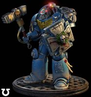 W40k.Terminator ultramarines. by Spawn237