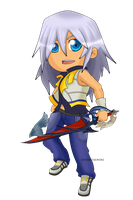Kingdom Hearts - Riku Chibi by Kanokawa