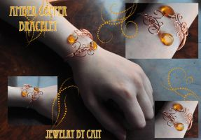 Amber Copper Bracelet by tanyquil