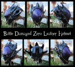 Code Geass: Battle Damaged Zero Leather Helmet by Epic-Leather