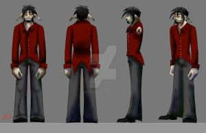 Archon Character turnaround by DeceptiveBeauty