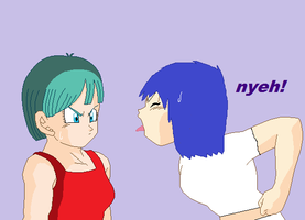 rose is mad at bulma by rose-the-cutie