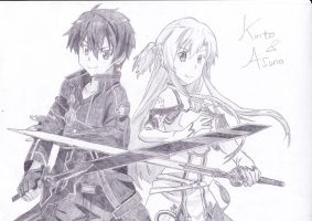 Kirito and Asuna by KiritoAsuna