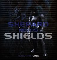 Mass Effect 3: Shepard Needs Shields by Daanan