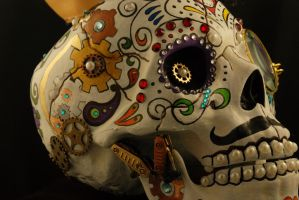 Steampunk Sugar Skull -4 by Boston-Corbett