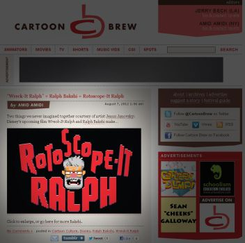Rotoscope IT Ralph featured on the BREW by jeaux