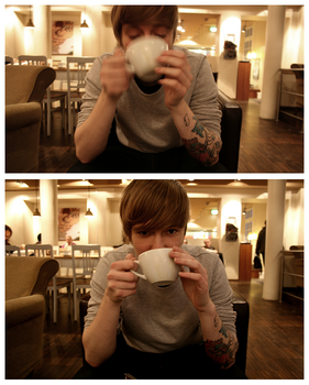 ben and his coffee. by plasticbratmobile