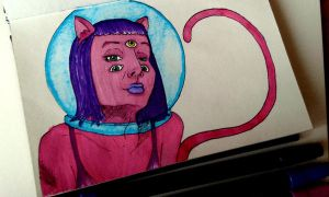 Space Cat by matali