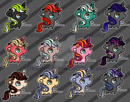 Pony army of adopts [O P E N ] by SweetStarsCake