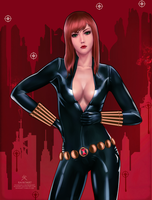 Marvel Pinups: Black Widow (updated) by raikoart