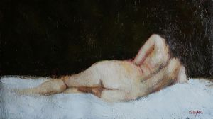 Nude Study Reclining by chalk42002
