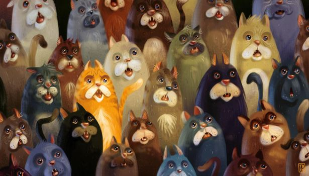 Even More Cats by TimBeard