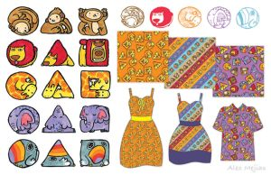 Pattern - Animal Shapes by SaltyMoose