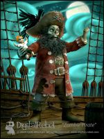 Zombie pirate by digitalrebelstudio