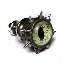 Steampunk Reptilian pin by CatherinetteRings