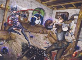 CM: Bar Fight! (LOL vs Wizardry Online) by TirraMisu