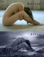 before-after femme brisee by Rafido