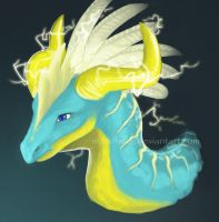 Fluorescent Dragon by Mondfalke