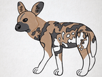 My first african wild dog by HappyHyenaGirl