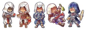 Chibi Assassins by HellHum