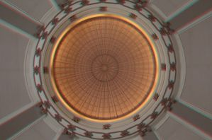 The Dome of Union Station in Winnipeg 3D Anaglyph by Joe-Lynn-Design