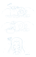 Snail cat deliveries by WanNyan