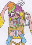 Mommy Fluttershy with Scootaloo (10) by CuddleLamb
