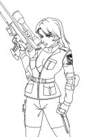 Sniper Wolf lineart by N0B0D1