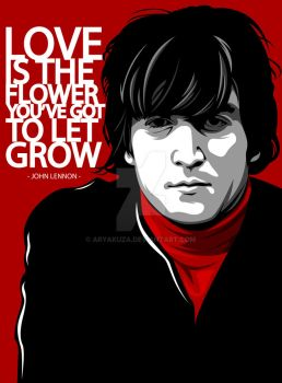 John Lennon in Memoriam (8 Dec 1980 - 8 Dec 2014) by aryakuza