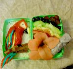 Scarlet Macaw Bento by mindfire3927
