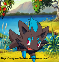 Shiny Zorua by CrystalLeEevee