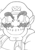 Wario-Time! (Sketch) by Th3AntiGuardian