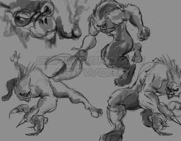 Lycan Sketch's by CoreyBrown