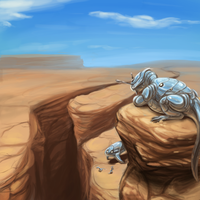 In The Desert by basiliskFree