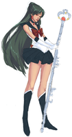 scrap. Sailor Pluto by kiikii-sempai