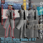 Rufus ShinRa Meshmod by DamianHandy by DamianHandy
